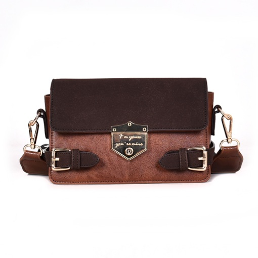 PU Thread Letter Rectangle Crossbody Bags