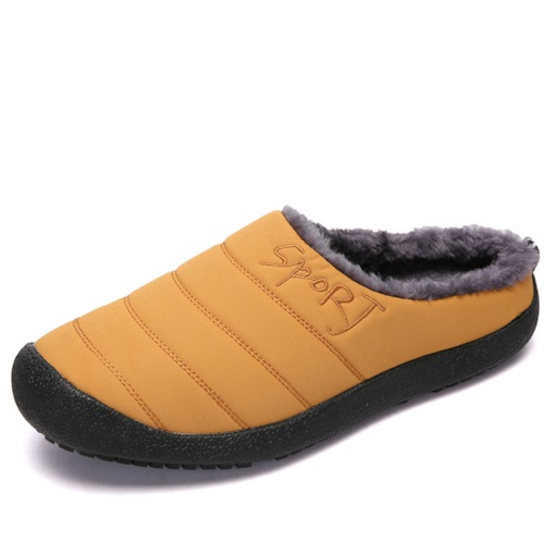 Plain Short Floss Men's Slip-On Winter Slippers