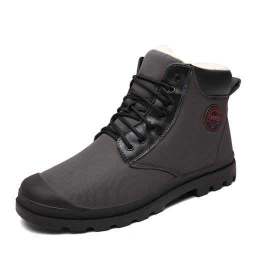 Round Toe Lace-Up Front Casual Men's Winter Boots