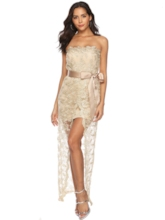 Bodycon Split Sleeveless Women's Lace Dress