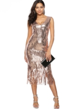 Bodycon Sequins Tassel Women's Party Dress
