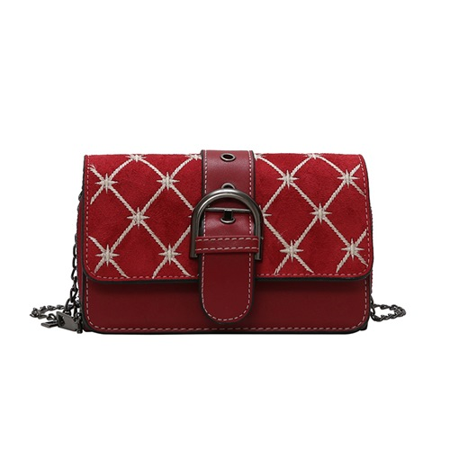 Quilted Lining Geometric Rectangle Crossbody Bags