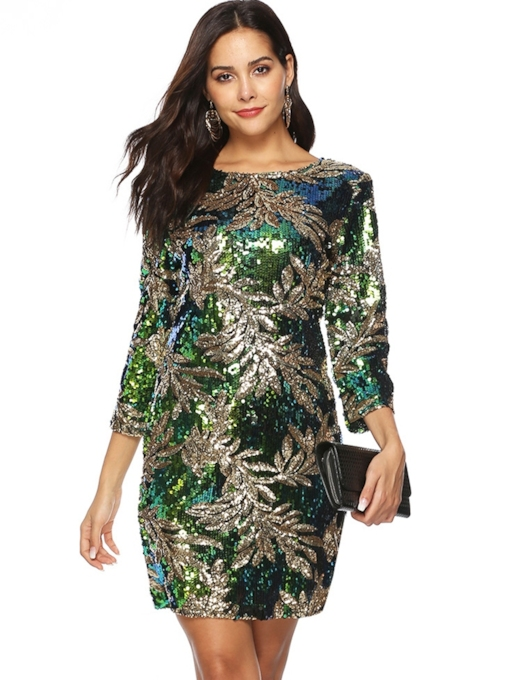 Sequins Bodycon Fall Women's Bodycon Dress