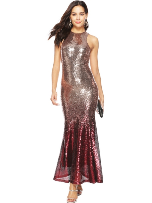 Mermaid Sequins Elegant Women's Party Dress