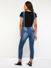 Pocket Straight Plain Loose Women's Jeans