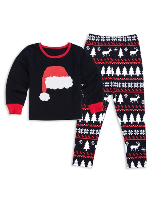 Christmas Hat Print Family Pajamas