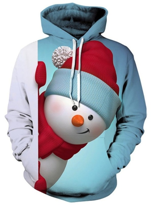 Ugly Christmas Pullover Print Loose Men's Hoodie