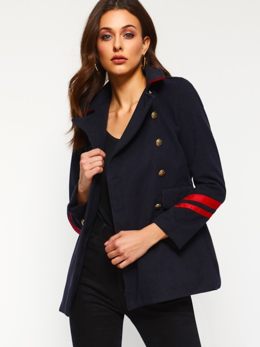 Long Sleeve Double-Breasted Lapel Casual Women's Blazer