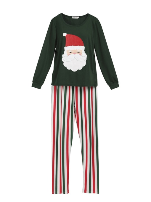 Christmas Santa Claus Stripe Family Pajamas