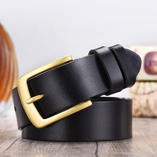 Fashion Patent Leather Pin Buckle Leather Men's Belts