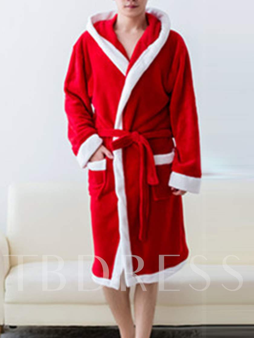 Christmas Color Block Men's Night-Robes