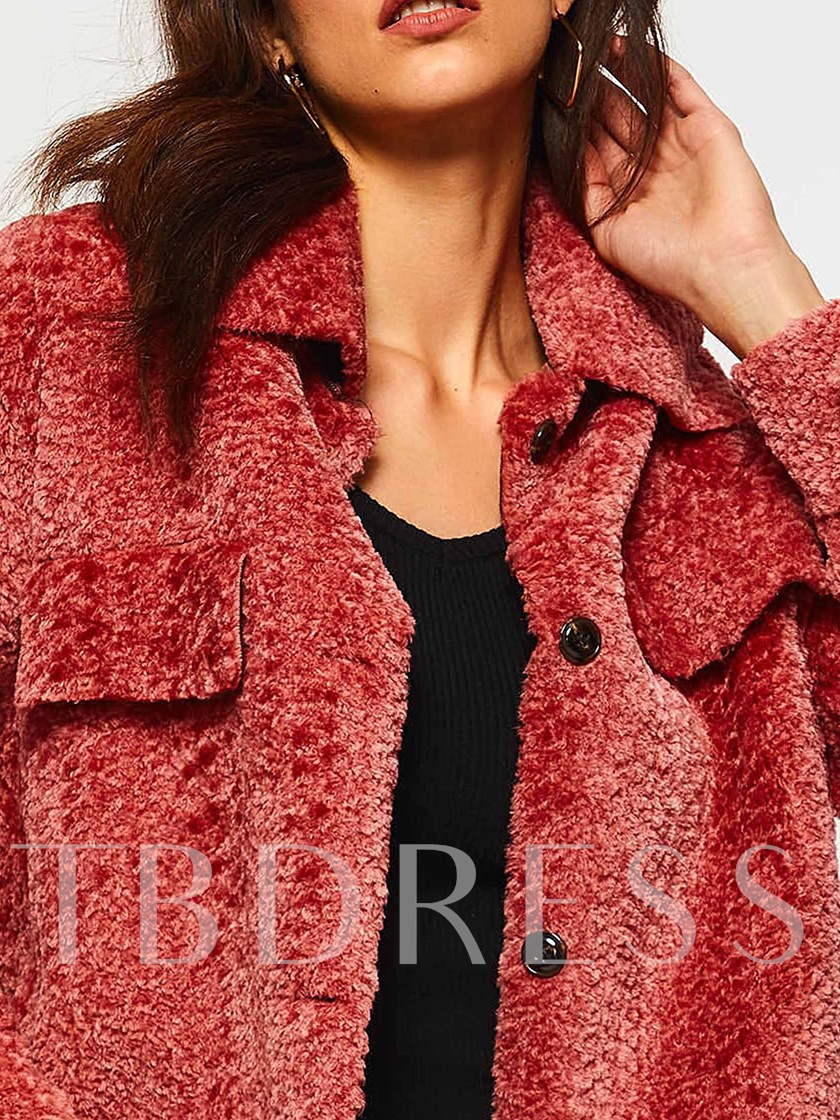 Single-Breasted Mid-Length Teddy Women's Overcoat