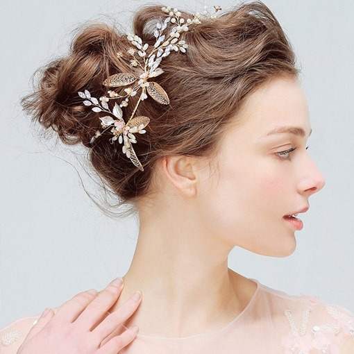 Floral European Handmade Hair Accessories (Wedding)
