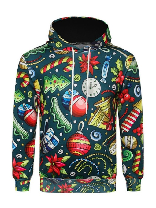 Ugly Christmas Pullover Print Casual Men's Hoodie