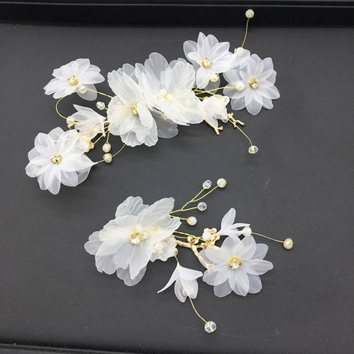 Barrette Korean Floral Wedding Hair Accessories