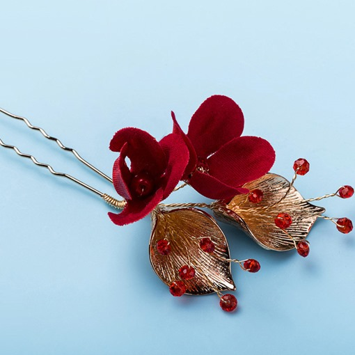Hair Stick European Floral Wedding Hairpin