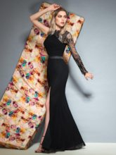 Sashes Floor-Length Trumpet One Shoulder Evening Dress
