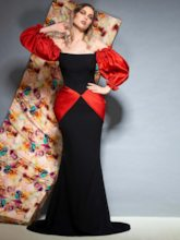 Off-The-Shoulder Floor-Length Long Sleeves Evening Dress