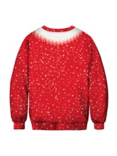 Ugly Christmas Print Pullover Men's Sweatshirt