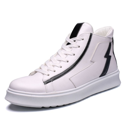 High-Cut Upper Color Block Lace-Up Round Toe Men's Skate Shoes