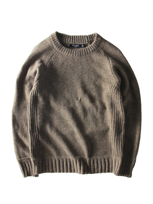 Round Neck Plain Men's Sweater