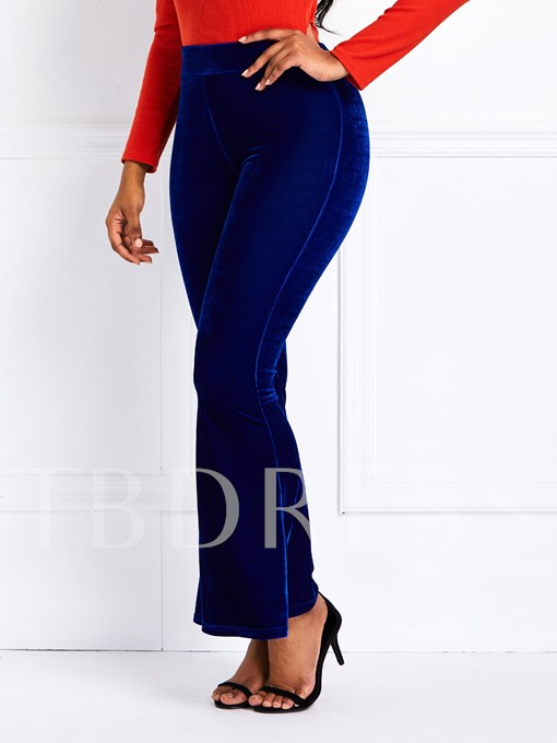 Loose Plain Full Length Women's Casual Pants