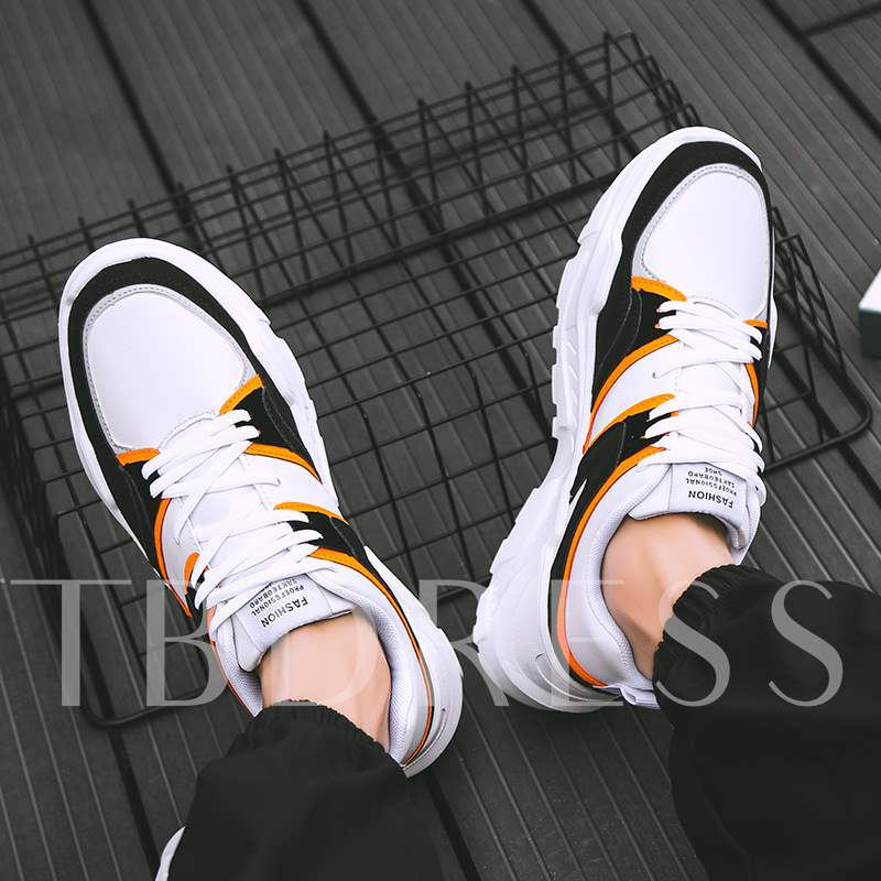 Lace-Up Low-Cut Upper Cotton Men's Sneakers