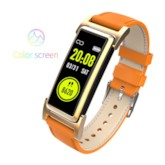 KR03 Smart Bracelet with Leather Strap GPS Positioning Heart Rate Monitor Smart Watch for Men