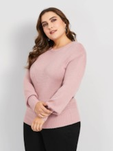 Bowknot Backless Plus Size Women's Sweater