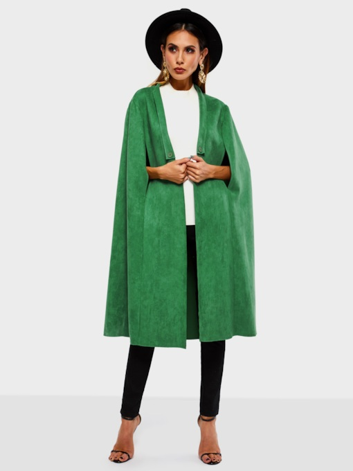 Plain Thick Suede Women's Cape