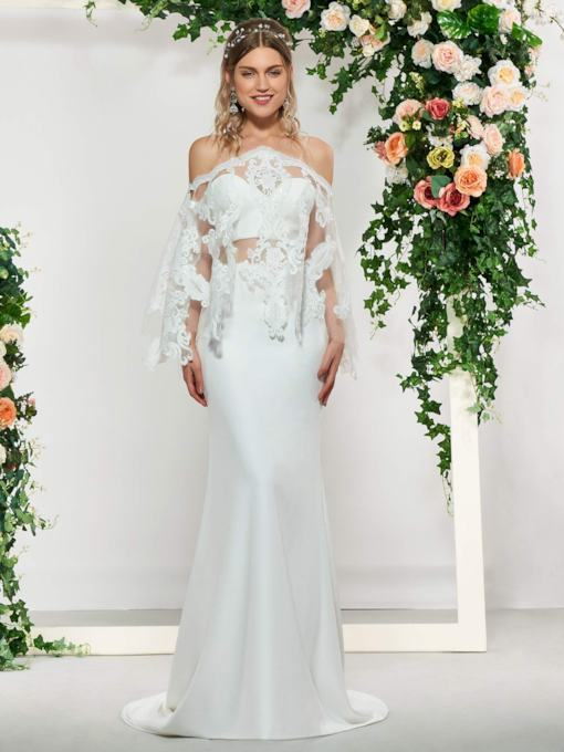 3 Pieces Mermaid Wedding Dress with Lace Jacket
