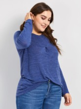 Long Sleeve Plus Size Women's T-Shirt