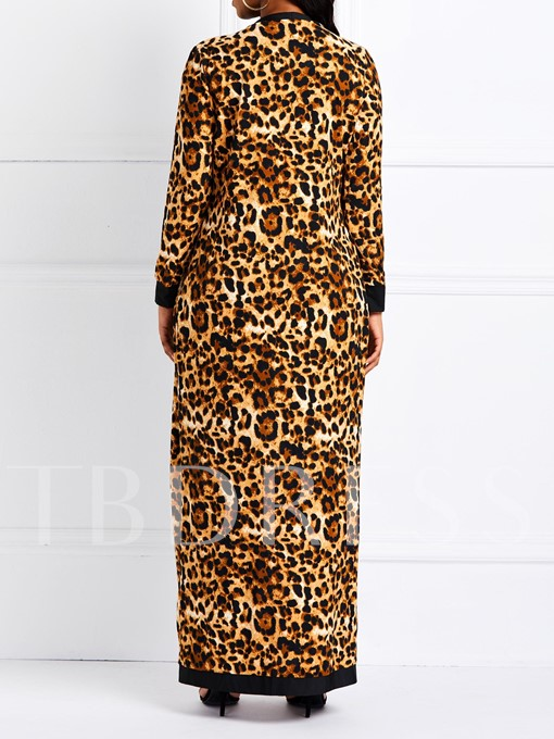 Casual Leopard Lace-Up Straight Women's Two Piece Sets