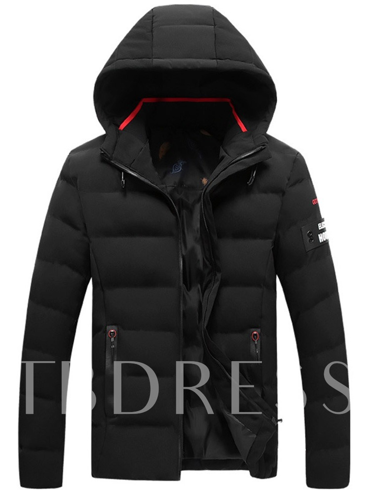 Stand Collar Thick Hooded Men's Puffer Jacket