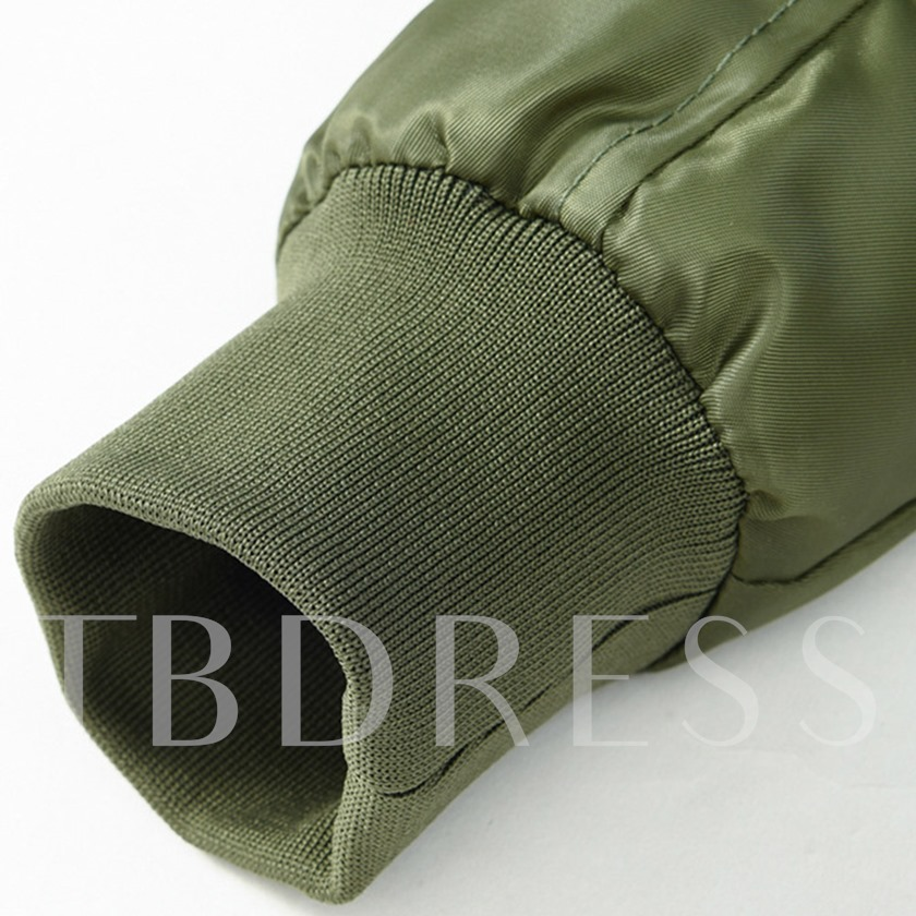 Plain Zipper Men's Down Jacket