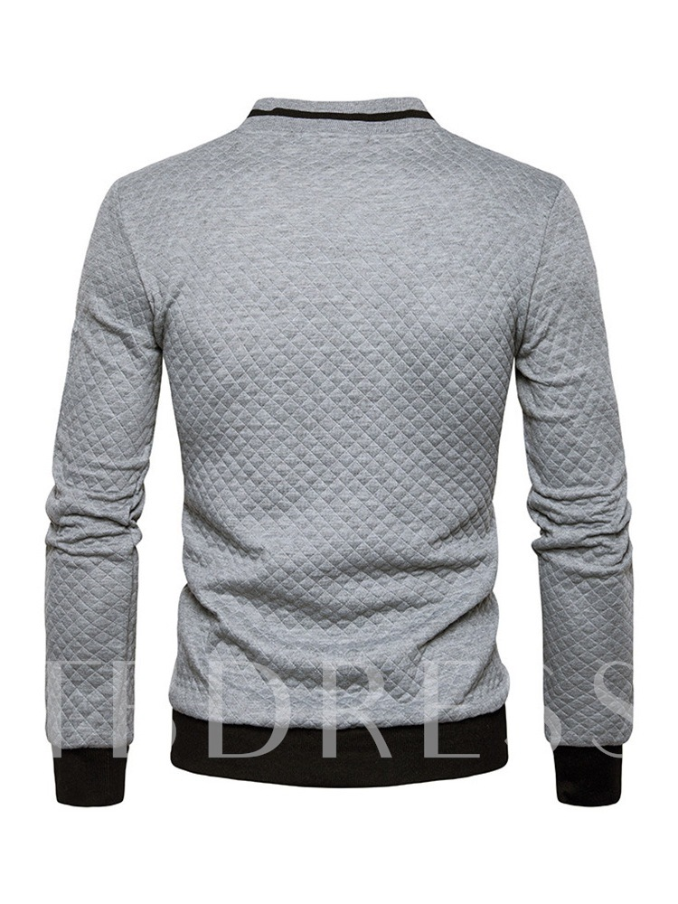 Stand Collar Cardigan Slim Men's Hoodie