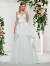 Straps Appliques Beading Wedding Dress 2019