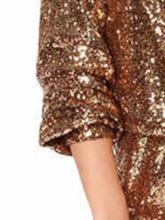 Plain Short Sequins Slim Women's Rompers