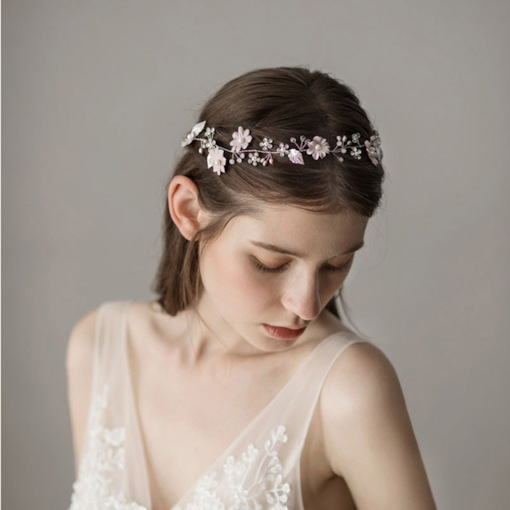 Fresh Water Pearl Decorated Floral Wedding Hair Accessories