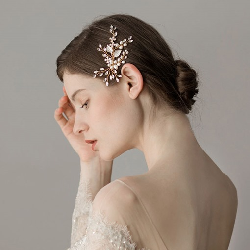 Korean Style Floral Pearl Hair Accessories (Wedding)