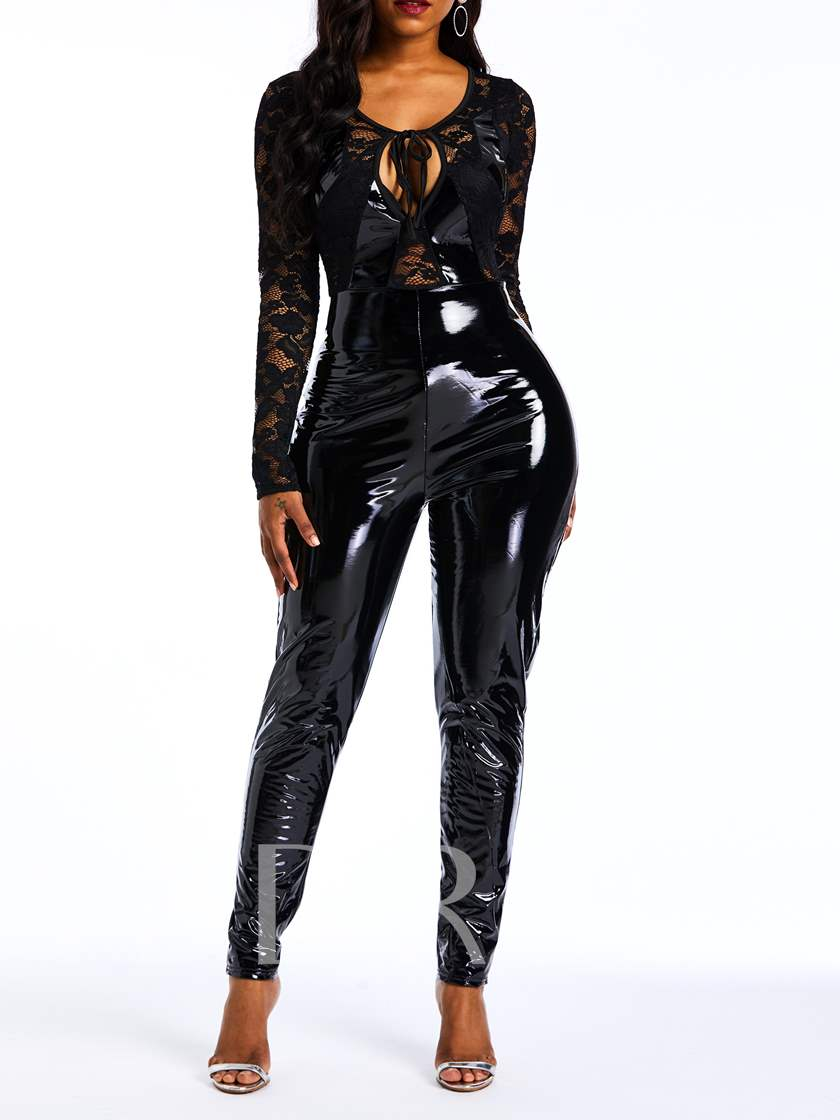 Full Length Sexy Lace Pencil Pants Women's Jumpsuits