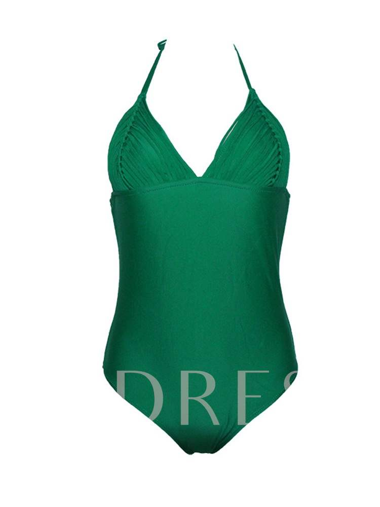 Lace-Up Sexy One Piece Women's Swimwear