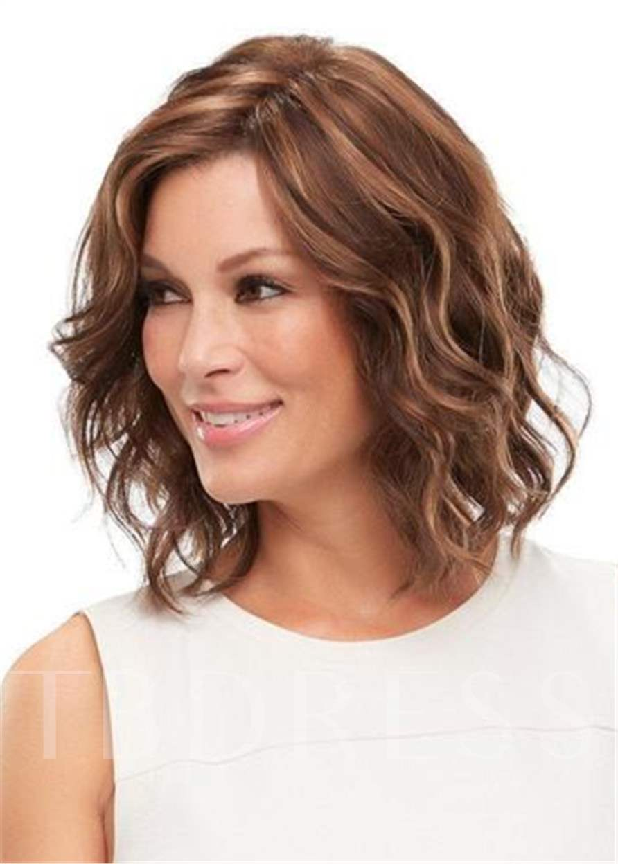 Layered Shag Big Curly Hairstyle with Full Fringe Middle Length Synthetic Capless Wigs 10 Inches