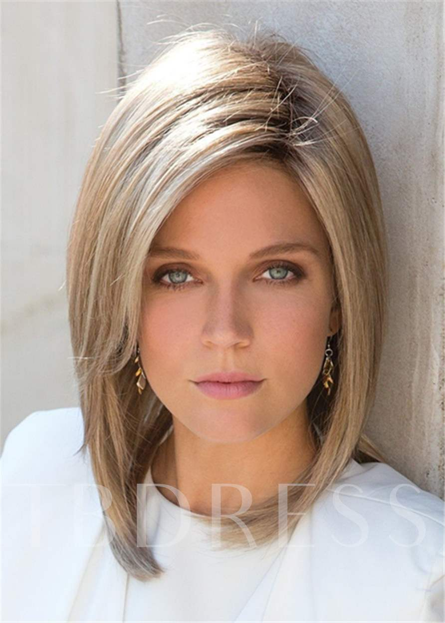 Classical Bob Top Quality Natural Straight Medium Synthetic Hair Capless Wigs 10 Inches