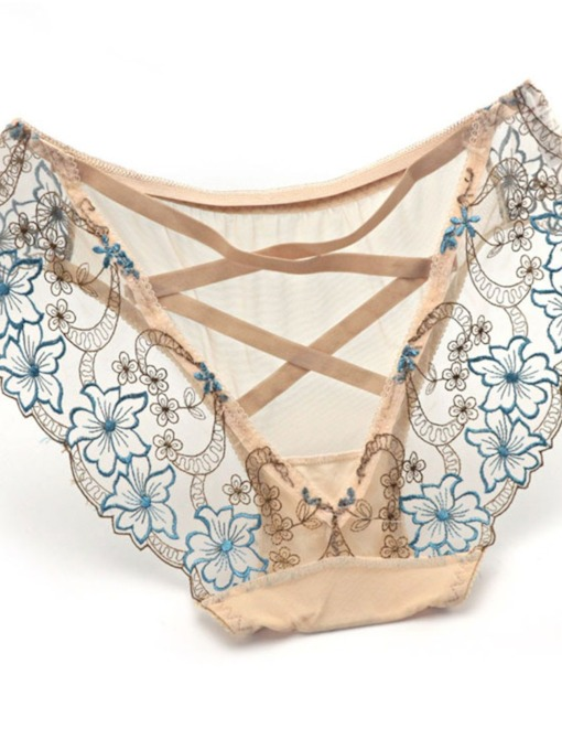 Embroidery Floral Sexy Women's Panty