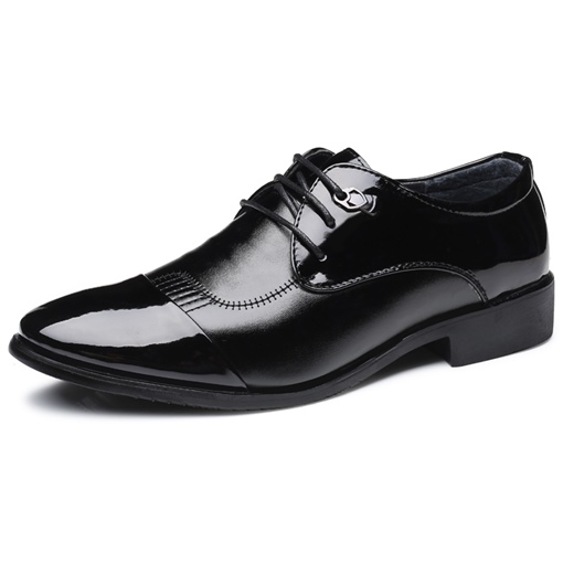 Low-Cut Upper Round Toe Professional PU Men's Leather Shoes