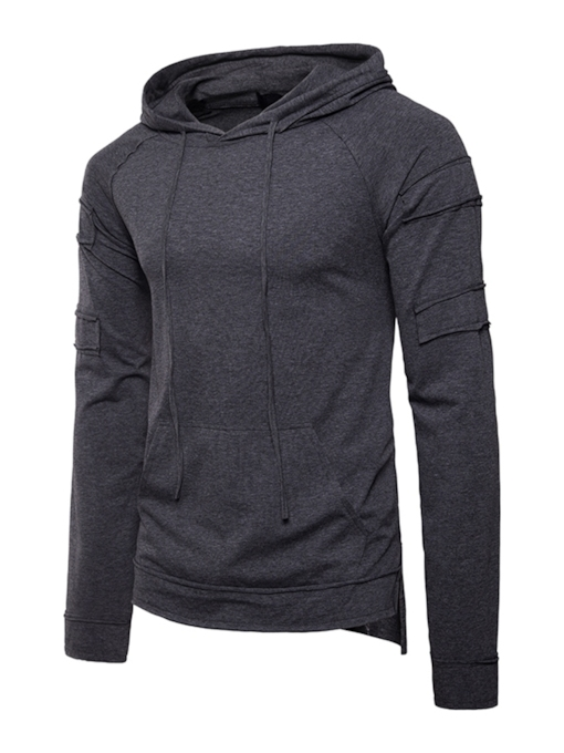 Pullover Plain Casual Men's Hoodie