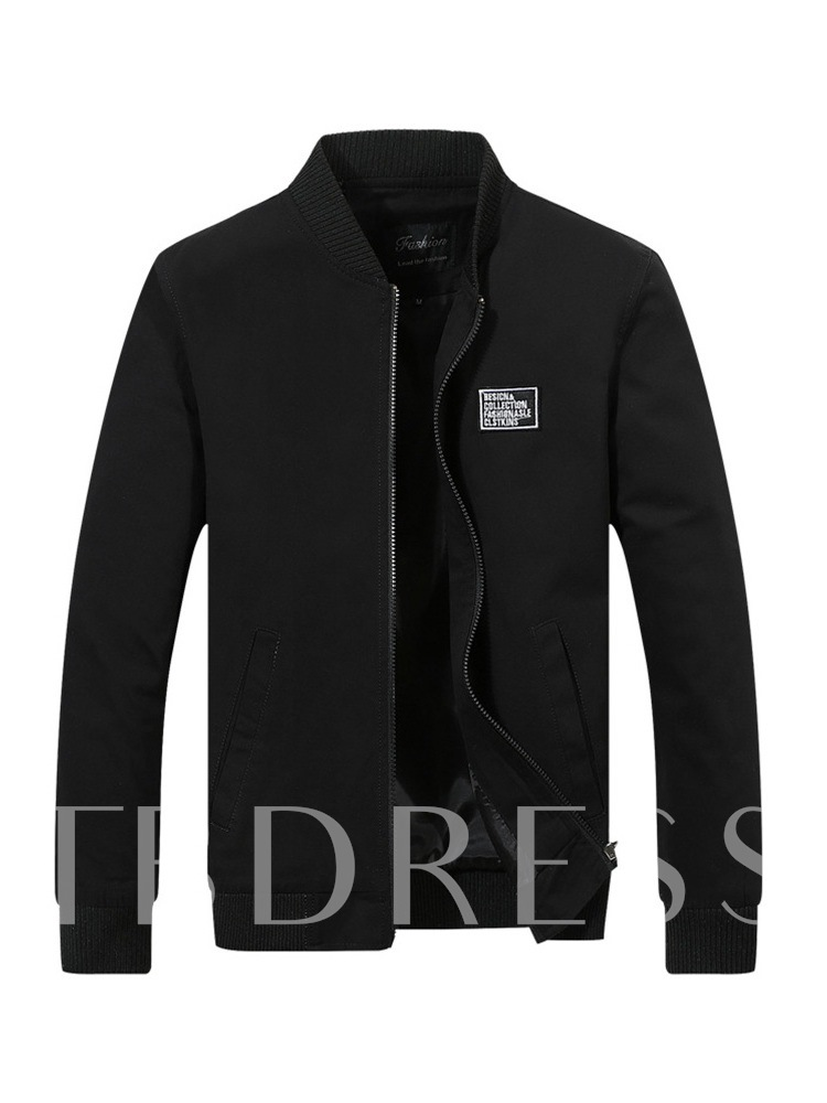 Stand Collar Straight Men's Jacket
