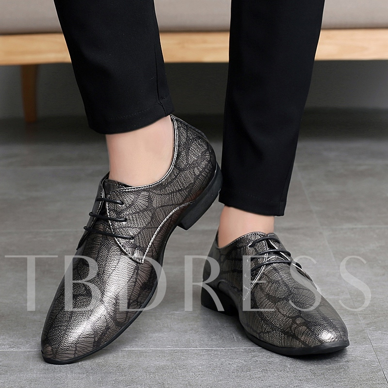 Low-Cut Upper Round Toe Men's Prom Shoes