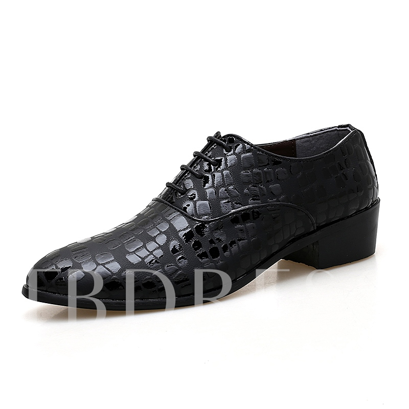 Low-Cut Upper Round Toe PU Leather Shoes for Men
